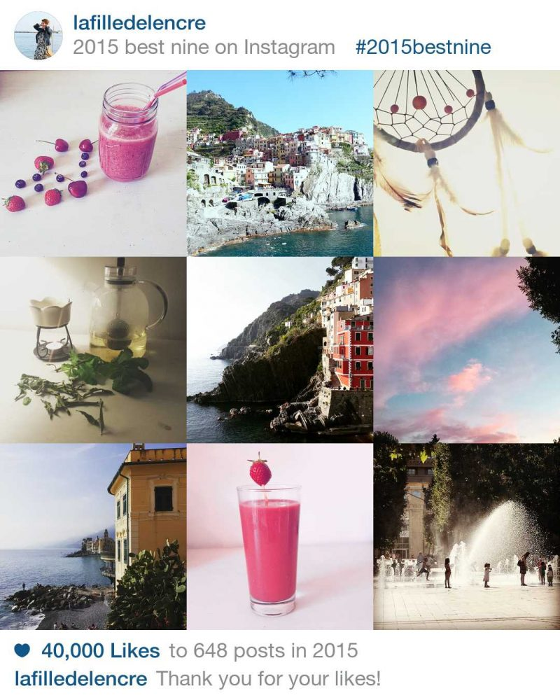 année 2015 instagram
