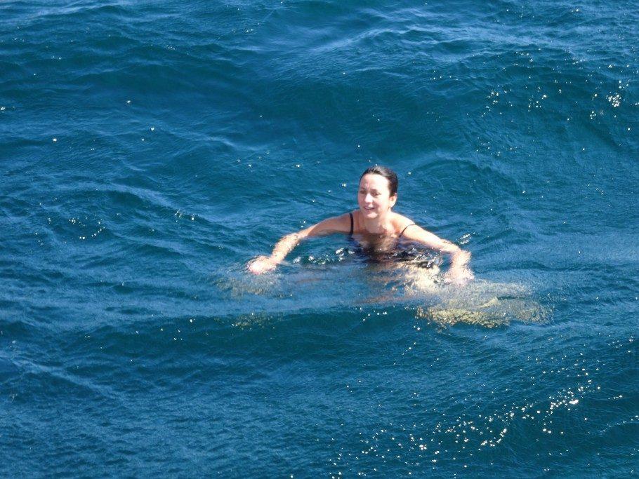 baignade en mer saint tropez