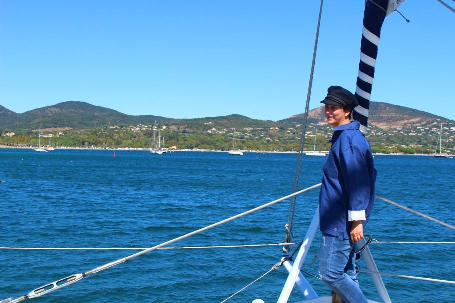 Un air de Bretagne à Saint Tropez sur le Caseneuve Maxi catamaran