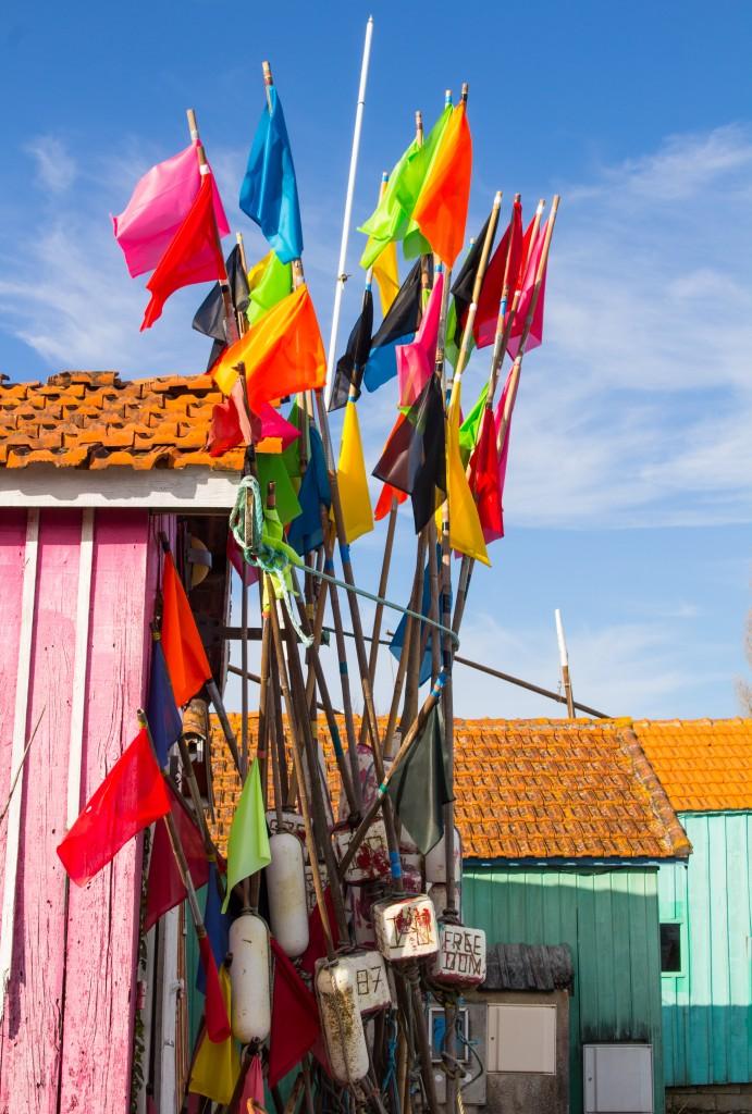 couleurs cabanes ile d'oleron