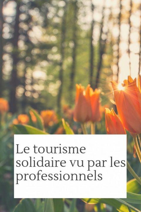 Le tourisme solidaire vu par les Professionnels