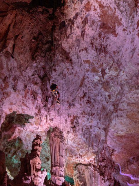 descente rappel grotte salamandre